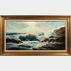 William Columbus Ehrig (American, 1892-1973)      Sunlit Surf, Ogunquit, Maine