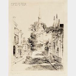 Alfred Heber Hutty (American, 1877-1954)      Charleston Spires