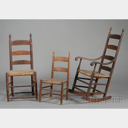 Shaker Tiger Maple Armed Rocking Chair
