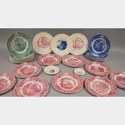 Three Sets of Wedgwood Wesleyan College Ceramic Plates