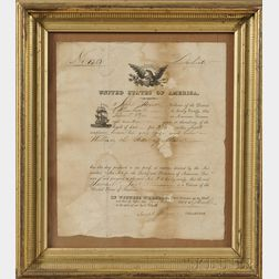Framed Sailor's Relief and Protection Act Document