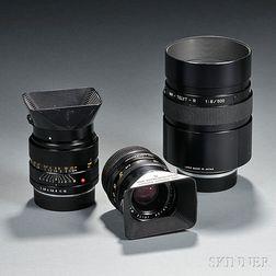 Three Leitz Lenses in Leica-R-Mount