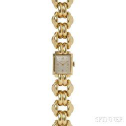 Retro Lady's 18kt Gold Wristwatch