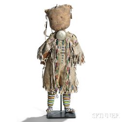 Large Southern Plains Beaded Hide Doll