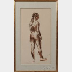Nicolai S. Cikovsky (American, 1894-1987)      Female Nude