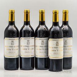 Chateau Pichon Lalande 2005, 5 bottles