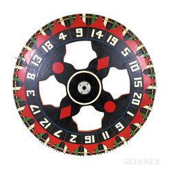 Painted Pine Wheel of Chance