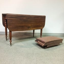 Classical Mahogany One-drawer Drop-leaf Table