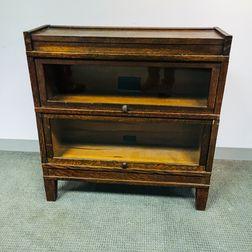 Globe-Wernicke Oak Two-stack Barrister Bookcase