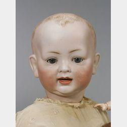 Large Hertel & Schwab Bisque Head Character Baby Doll