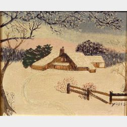 Anna Mary Robertson (Grandma) Moses (American, 1860-1961)    The Sun Has Gone Down