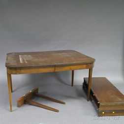 """Walnut """"Watertown Slide"""" Table"""