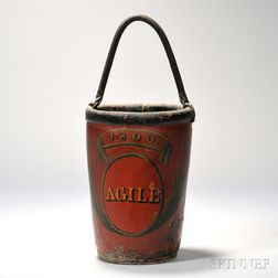 Red-painted Fire Bucket