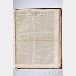 The New York Semi-Weekly   [later Daily  ] Tribune  , Bound Volume Containing Issues from March 1859 through December 31, 1861.