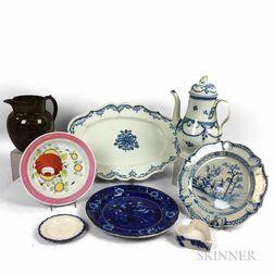 Eight Ceramic Tableware Items
