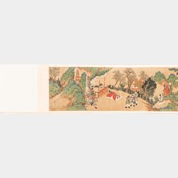 Set of Two Handscrolls Depicting the Legend of the White Snake