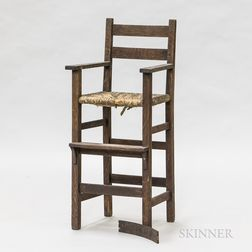 Mission Oak High Chair