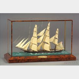 Cased Model of the Extreme Clipper Ship Challenge