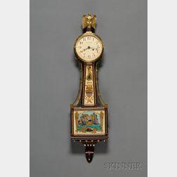 """Mahogany Miniature Waltham """"Banjo"""" Clock"""