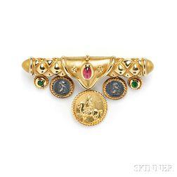 18kt Gold Gem-set Brooch, SeidenGang