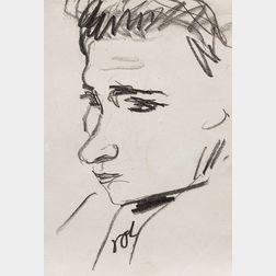 Erich Heckel (German, 1883-1970)      Jugendlicher Kopf