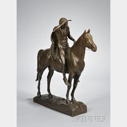 Bronze Sculpture ,The Scout,   After Cyrus Edwin Dallin (American,      1861-1944)