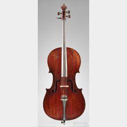 German Violoncello, August Wunderlich, Markneukirchen, c. 1900