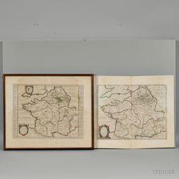 France. Abraham Ortelius (1528-1598) Two Maps.