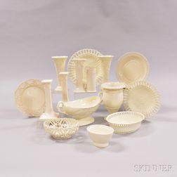 Seventeen Wedgwood Queen's Ware Items