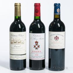 Mixed 1998 Bordeaux, 3 bottles