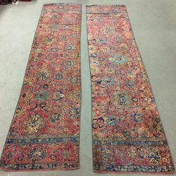 Pair of Sarouk Carpet Fragment Runners