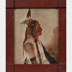 Oil on Board Portrait of an Indian