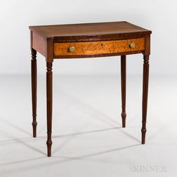 Federal Mahogany and Bird's-eye Maple Serving Table