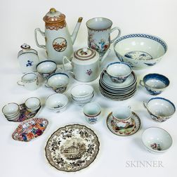 Thirty-seven Pieces of Mostly Chinese Export Porcelain.