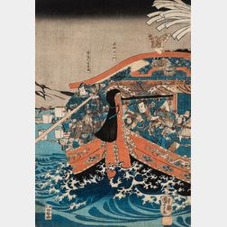 Seven Ukiyo-e   Woodblock Prints