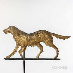 Molded and Gilded Sheet Copper Dog Weathervane