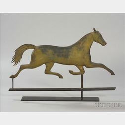 Molded Sheet Copper and Zinc Running Horse Weather Vane
