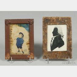 Two Small Framed Works on Paper