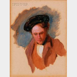 Attributed to Thomas Cole (American, 1801-1848)      Portrait of a Gentleman