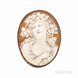 14kt Gold and Shell Cameo Pendant/Brooch