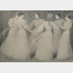 Henri Eugene Le Sidaner (French, 1862-1939)      La Ronde