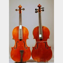 Two Restorable Modern Violins