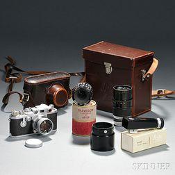 Leica IIIC and Three Lenses