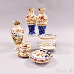 Nine Wedgwood Pearlware Items