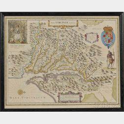 Virginia. Henricus Hondius (1597-1651) Nova Virginiae Tabula.