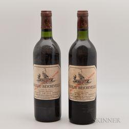 Chateau Beychevelle 1983, 2 bottles