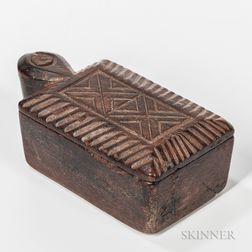 Carved Swivel-lid Box