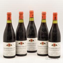 Bouchard Pere & Fils Beaune Bressandes 1976, 5 bottles