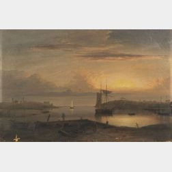 Fitz Hugh Lane (American, 1804-1865)  Manchester Harbor
