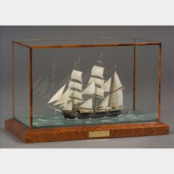 Cased Model of the Whaling Barque Charles W. Morgan